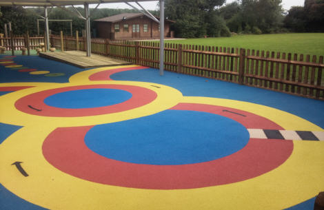 Wetpour Rubber Safety Surfacing laid by the GymFix Team in Kent